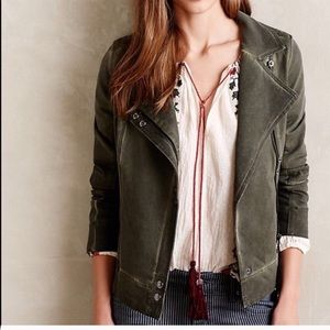 Anthropologie marrakech green motto jacket